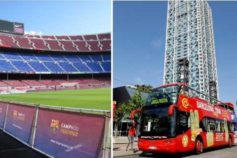 Barcelona Hop-On Hop-Off & F.C. Barcelona Camp Nou Tour