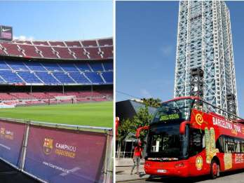 Barcelona: Hop-On/Hop-Off-Tour & FC Barcelona Camp Nou-Tour