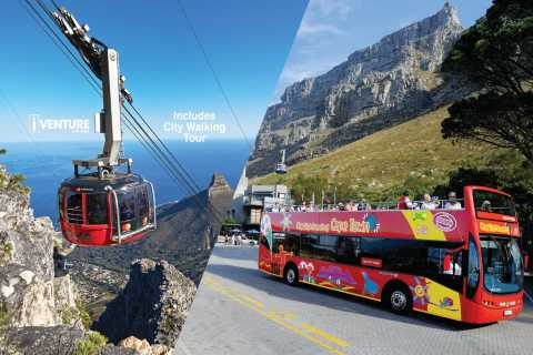Table Mountain Cable Car Ticket & Hop-On Hop-Off Bus Combo