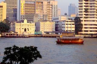 Loy Nava Dinner-Schifffahrt auf antikem Reis-Frachter