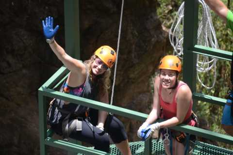 From San Jose: Full-Day Jaco Beach Canyoning and Canopy Tour