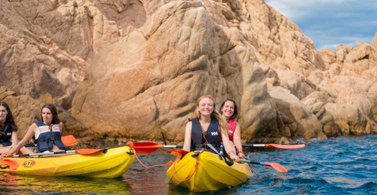 Depuis Barcelone: kayak et snorkeling sur la Costa Brava