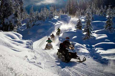 Rovaniemi: snowmobile de meio dia e experiência na pesca no gelo