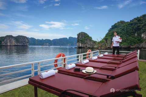 From Hanoi: Halong & Lan Ha Bay Luxury Estella 1-Day Cruise