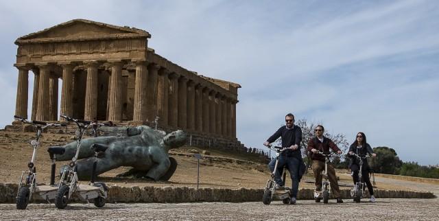 Agrigento: Vallei van de Tempels met e-scooter