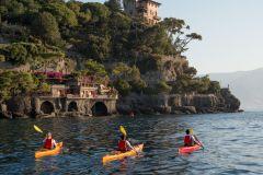 Excursão fácil de caiaque a Portofino com snorkel opcional