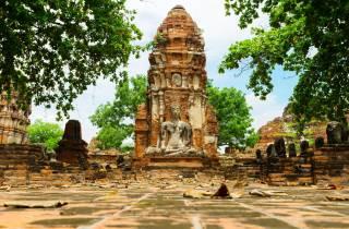 Ab Bangkok: Tagestour Ayutthaya-Tempel und Floating Market