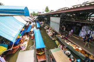 Bangkok: Schwimmender Markt Damnoen Saduak im Privatwagen
