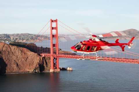 Excursão de helicóptero em San Francisco Vista (15 a 20 minutos de passeio)