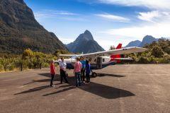 Voo de cruzeiro de mosca de Milford Sound