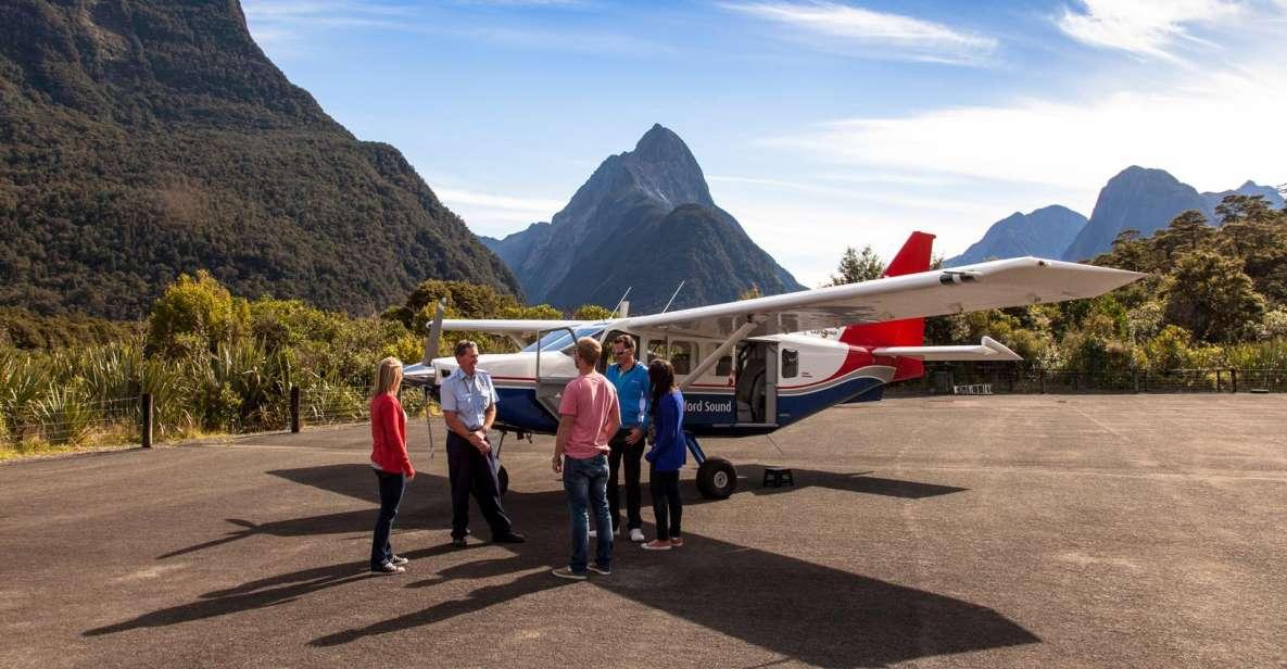 Ab Queenstown: Ganztagesausflug nach Milford Sound mit Flugzeug und Boot