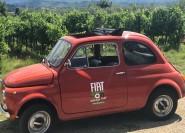 Ab Siena: Chianti-Tour im Fiat 500 Oldtimer