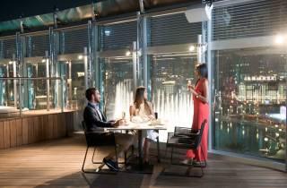 Burj Khalifa: 124. Etage & Mittag-/Abendessen im Burj Club