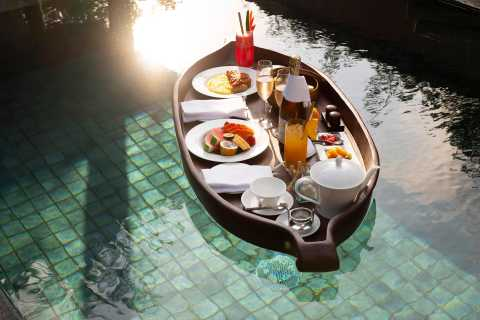 Ubud: Floating Breakfast and Hot Air Balloon Experience