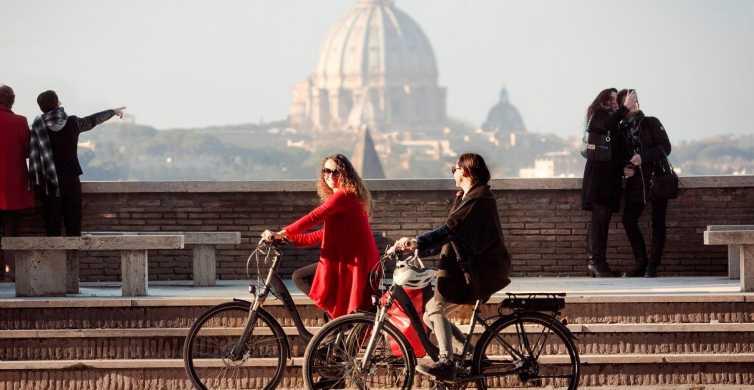 Roma: excursão panorâmica de meio dia em bicicleta com assistência elétrica