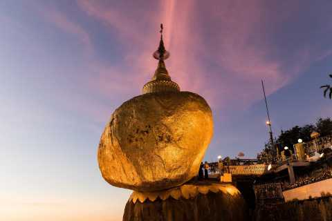 From Yangon: Golden Rock Group Return Day Trip