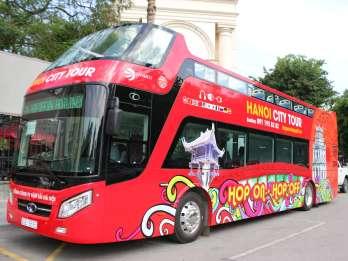 Hanoi: Hop-On/Hop-Off-Bustour mit Live-Kommentar