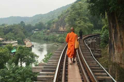 Desde Bangkok: Tour en Kanchanaburi, Mercados Ferroviarios y Flotantes