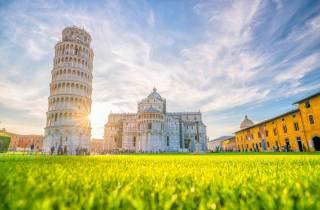 Pisa, Siena, San Gimignano mit Mittagessen und Weinprobe