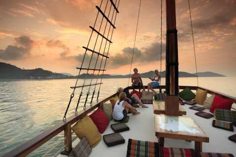 Phuket Relaxing Boat Cruise with Snorkelling & Sunset Dinner