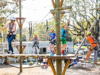Hochseil-Abenteuerpark in Charleston, South Carolina