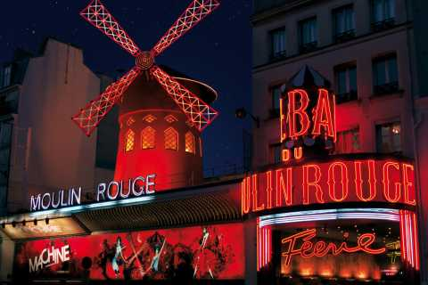 Paris: Moulin Rouge Cabaret Show Ticket with Champagne
