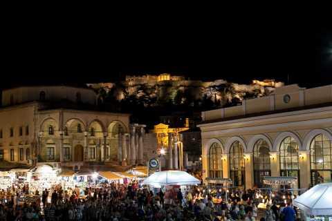 Athen: Die Stadt bei Nacht