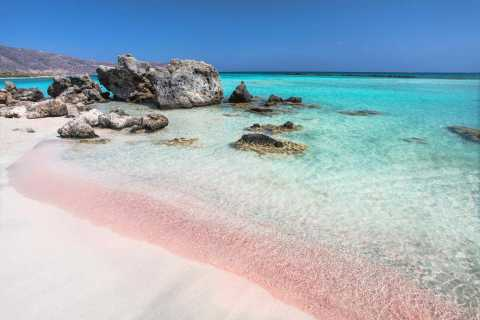 From Rethymno: Elafonissi Pink Sand Beach Small Group Tour
