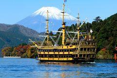 Excursão de 1 Dia Hakone Fuji: Cruzeiro, Teleférico e Vulcão