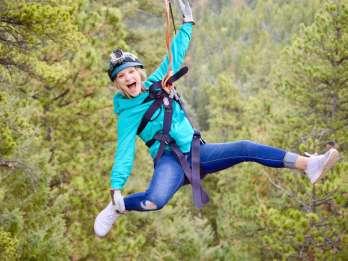 Rocky Mountains: Zipline-Abenteuer mit 6 Seilbrücken