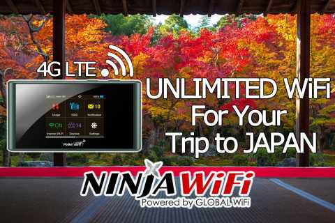 Japan Pocket WiFi Router 4G LTE Unlimited Usage