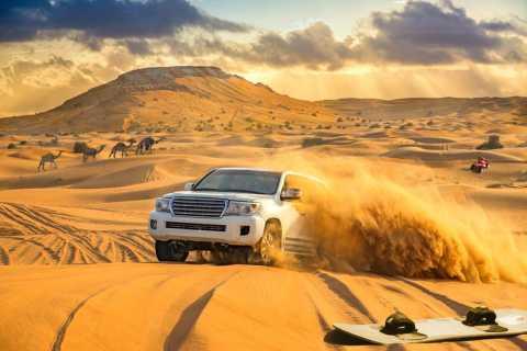 Dubai: woestijnsafari, kamelenrit, sandboarding & BBQ-opties