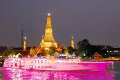 Bangcoc: 2 horas de cruzeiro maravilhoso com jantar de pérola à luz de velas