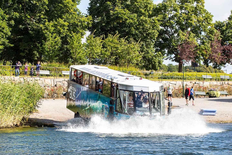 Stockholm zu Lande und zu Wasser: Amphibienbus-Tour