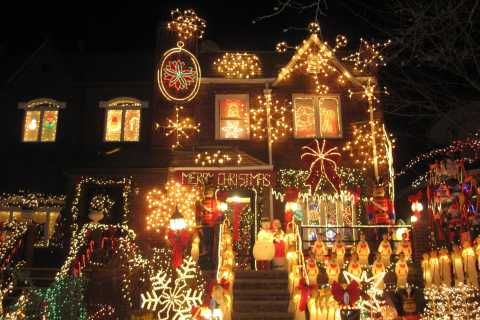 Från Manhattan: Magisk jul i Brooklyn, 3,5 timmars rundtur