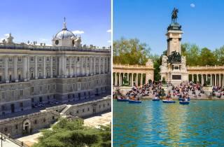 Madrid: Palacio Real- und Retiro-Park-Tour ohne Anstehen