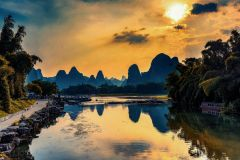 Guilin City Li River Cruzeiro e Yangshuo Grupo Day Tour
