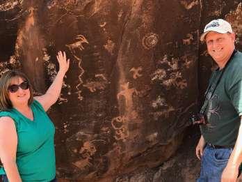 Utah: Geologische Petroglyphenexkursion im Gelände