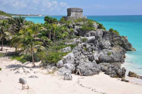 Cancun / Riviera Maya: Tulum via terra e mare con Beach Club