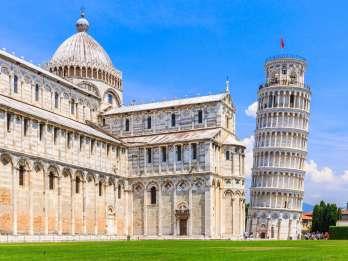 Ab Livorno: Busfahrt zum Schiefen Turm von Pisa