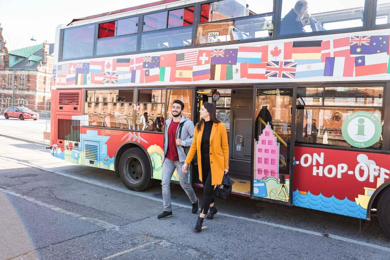 Kopenhagen: Hop-On-Hop-Off Sightseeingtour mit Bus und Boot