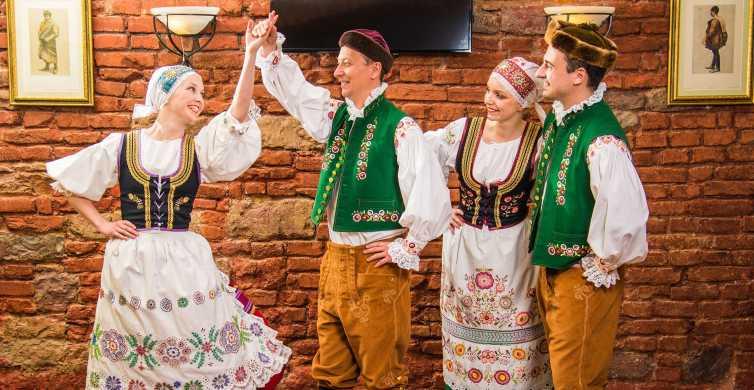 Prague Center Walking Tour and Dinner with Folk Show