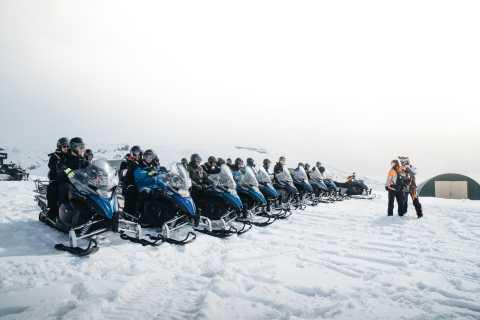 From Gullfoss: Langjökull Glacier Snowmobile Tour