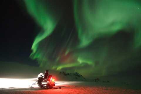 From Gullfoss: Northern Lights Snowmobile Tour