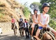 Savoca: Halbtägiger Eselritt und Patenausflug