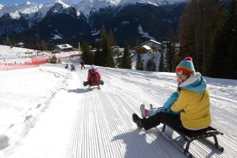Bolzano: Famous Dolomites Sledge Slope Experience