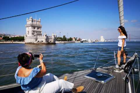Lisbon: Private Yacht Tour Along Coast with Guided Tour