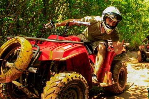 Cancun i Riviera Maya: wycieczka ATV, Zipline i Cenote Combo