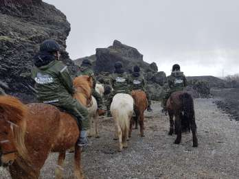 Reykjavik: Rote Lava - Ausritt mit dem Pferd