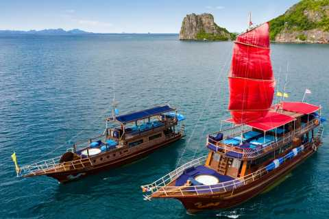 Mu Ko Ang Thong: Private Tages-Charter einer Thai-Yacht